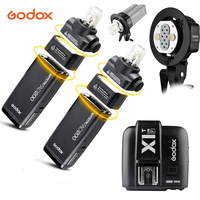 Godox карман Открытый Вспышка 2x AD200 2.4 г Беспроводной 200ws TTL HSS 1/8000 s синхронизации + ad b2 Bowens крепление + x1t f для Fuji x pro2, x t20,