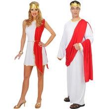 224aa5c036e Костюм Греческого бога для взрослых Coulpe римский сенатор костюм для  мужчин и женщин костюм на Хэллоуин женский мужской s Toga .
