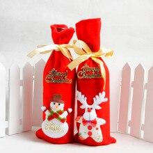Крышка для бутылки с красным вином сумки украшения дома вечерние Санта Клаус Рождество Санта Клаус Enfeite De Natal* di