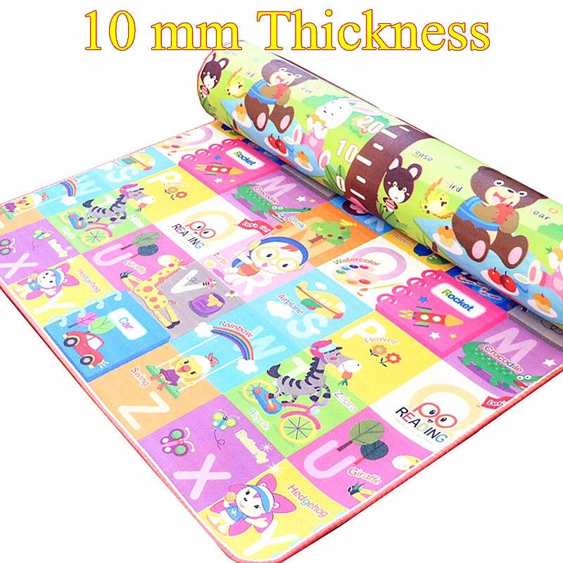10mm grueso doble lados niños Play Mat niños impermeables Beach Picnic Mat Soft Eva espuma alfombra bebé gateando bebé regalo