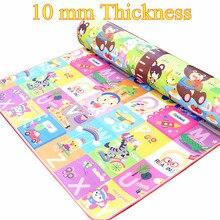 10mm 두꺼운 아기 놀이 매트 어린이 카펫 방수 어린이 피크닉 매트 소프트에 바 거품 카펫 깔개 아기 크롤 링 매트 아기 선물