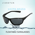 JIANGTUN Special Offer Water Sport Polarized Sunglasses Floatable Oculos Hd Sunglass Black Glasses Men Vintage Lunette De Soleil