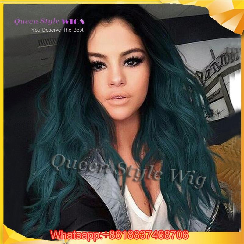 selena gomez blue hair