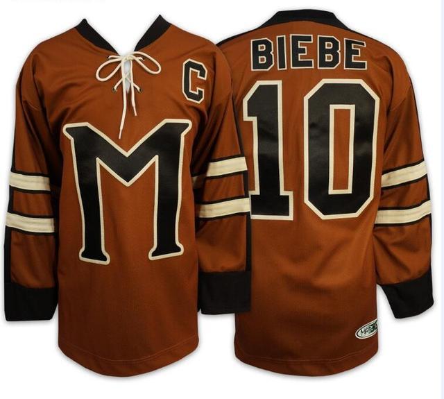 10 Biebe Mystery Alaska Movie Hockey Jersey S Xl Free Shipping