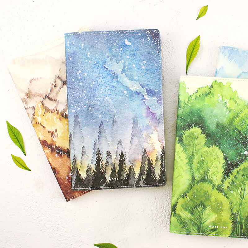Natural Japanese Hobonichi Style Planner Notebook Travel Journal Diary DIY Book Gift For Student School Supplies Stationery