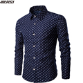 Casual Homens Camisa de Manga Longa Turn-down Collar Único Breasted Negócios Chemise Homme 2017 Venda Quente Camisa Masculina MXB0311