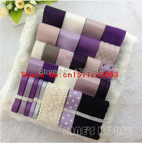 Free shipping 28 yards 28 styles mixed purple DIY hairpin hairbow - Arts, Crafts and Sewing