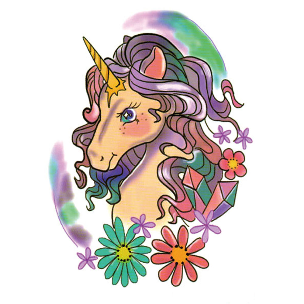 Yeeech Temporary Tattoos Sticker for Women Sexy Unicorn Girl Animal Rainbow Designs Fake Large Arm Leg Body Art Waterproof