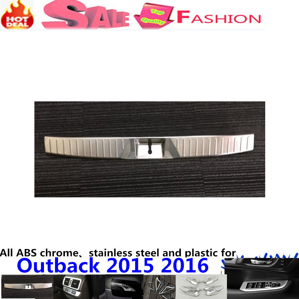 car body Styling Stainless Steel Inner Rear Bumper trim plate lamp frame threshold pedal 1pcs For Subalu Outback 2015 2016 for porsche cayenne 2015 stainless steel outer rear bumper foot plate trim 1pcs car styling