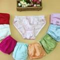 10 unids/lote calzoncillos bragas femeninas de seda pura seda de Mora de seda femenina decoración femenina del cordón de las bragas de seda pura
