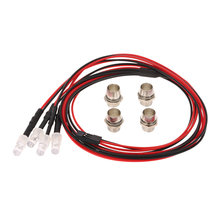4 LED Verlichting Kit 2 Wit 2 Rood voor 1/10 1/8 Traxxas HSP Redcat RC4WD Tamiya Axiale SCX10 D90 HPI RC Auto(China)