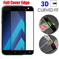 Tempered Glass Film For Samsung Galaxy A3 A5 A7 2017 A320 A520 A720 3D Curved Surface Full Screen Cover Explosion-proof Film