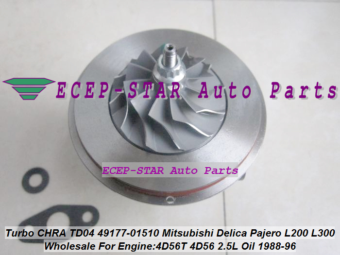 TURBO CHRA Cartridge Oil Cool TD04 49177-01510 49177 01510 4917701510 MD168054 For Mitsubishi Shogun Pajero L200 L300 4D56 2.5L turbo cartridge chra core rhv4 vt16 1515a170 vad20022 for mitsubishi triton intercooled pajero sport l200 dc 06 di d 4d56 2 5l