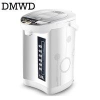 DMWD Doméstico 5L bule de isolamento térmico de aço inoxidável chaleira rápido aquecimento elétrico garrafa de água quente aquecedor de caldeira DA UE EUA
