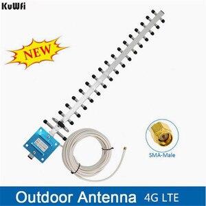 Image 1 - KuWFi antenne Wifi antenne 4G LTE antenne SMA mâle WIFI antenne directionnelle 20dBi 4G routeur antenne 2500 2700 Mhz pour routeurs