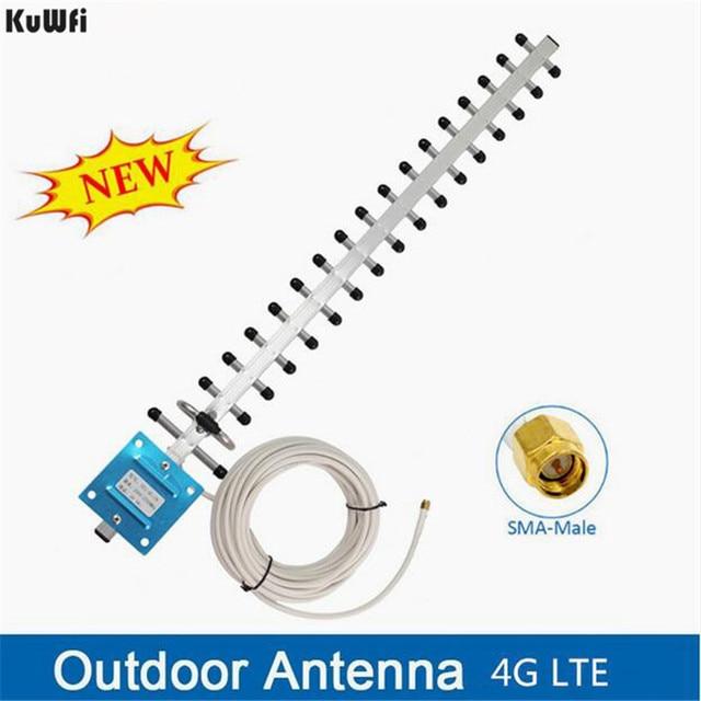 Kuwfi antena wifi 안테나 4g lte 안테나 sma 남성 wifi 지향성 안테나 20dbi 4g 라우터 안테나 2500 2700 mhz for routers