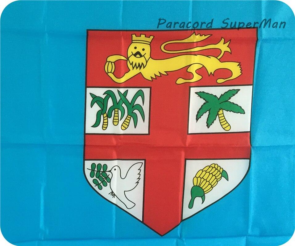 Fici FLAG BANNER 3 x5ft asma poliester Fiji Island Banner Bayraq - Komanda idman növləri - Fotoqrafiya 3
