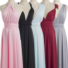 Summer Beach Multicolor Dresses Mixed Style Chiffon Boho Wrap Sexy Multiple Wearing Methods Dress Evening Wear Halter