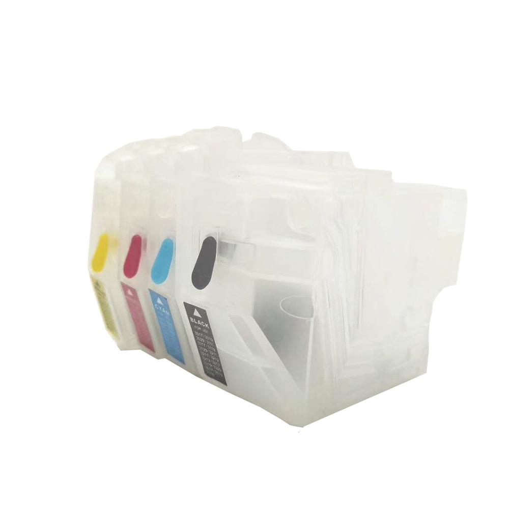 Einkshop LC3117 LC3119 LC3317 LC3129 LC3319 Refillable Ink Cartridge No Chip For Brother MFC-J6930 J6730 J5335 J5730 Printer