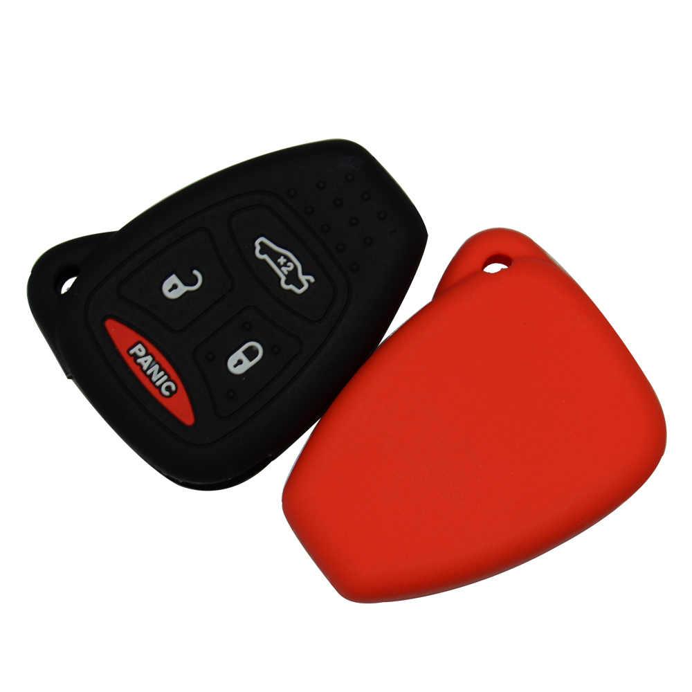 OkeyTech سيارة مفتاح غطاء سيليكون لينة مجموعة غطاء حماية فوب ل جيب رانجلر شيروكي ل كرايسلر الحرية باسيفيكا seتجلب