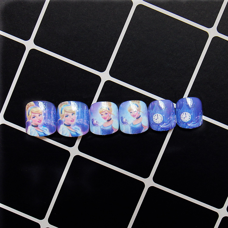 New 24 pieces Frozen Children Fake Nails Fashion Cute Style Art ...