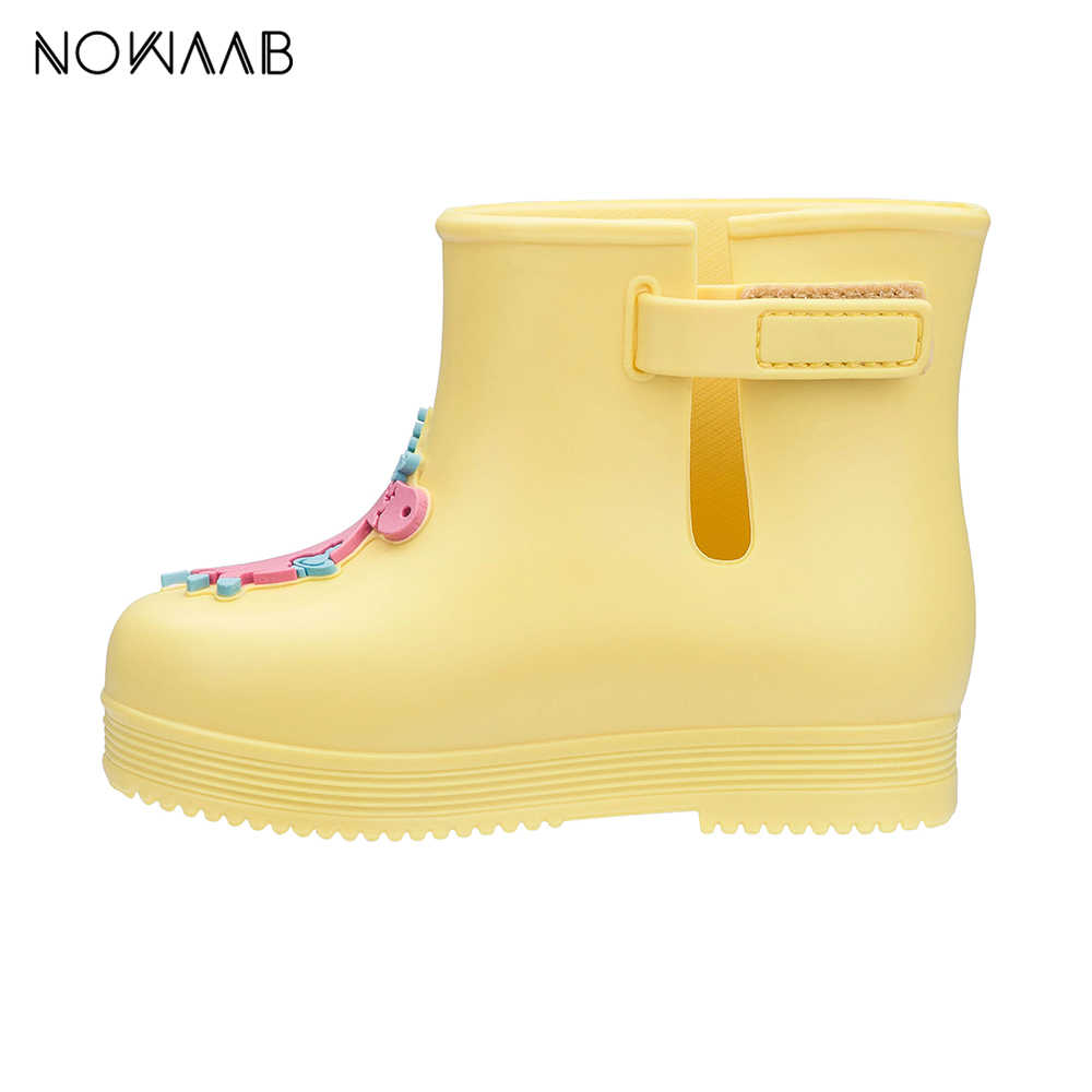 Mini Melissa Çizme Anglomania Unicorn 2019 Orijinal Kız Jöle Sandalet çocuk sandaletleri Çocuk plaj ayakkabısı bebek ayakkabısı yağmur çizmeleri