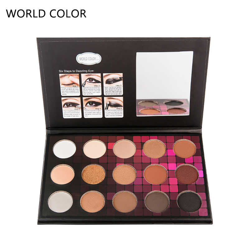 Ogen Make-Up Oogschaduw Palet Make up 15 Kleuren Matte & Shimmer Oogschaduw Pallete Vrouwen Maquiagem Cosmetica Contour Poeder Kit