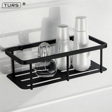Electroplated SUS 304 Stainless Steel Bathroom Basket Shelf Single Tier Square Toilet Rack Accessories