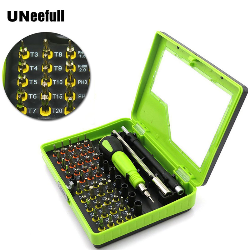 UNeeful 53 in 1 Magnetic Precision Screwdriver Set Kit Torx ,Screwdriver Repair Hand Tools kits tornavida seti For PC,Smartphone