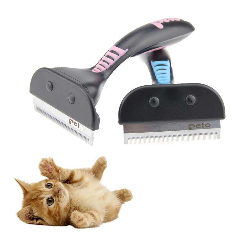 TopTops/® Stainless Pin Pet Dog Hair Flea Comb Pin Cat Shedding Grooming Brush Clean Tool 1pcs,white