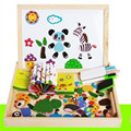 Baby toys magnetic puzzles puzzle wooden box insects insects forest animals happy farm city traffic fight fight magnetic patch
