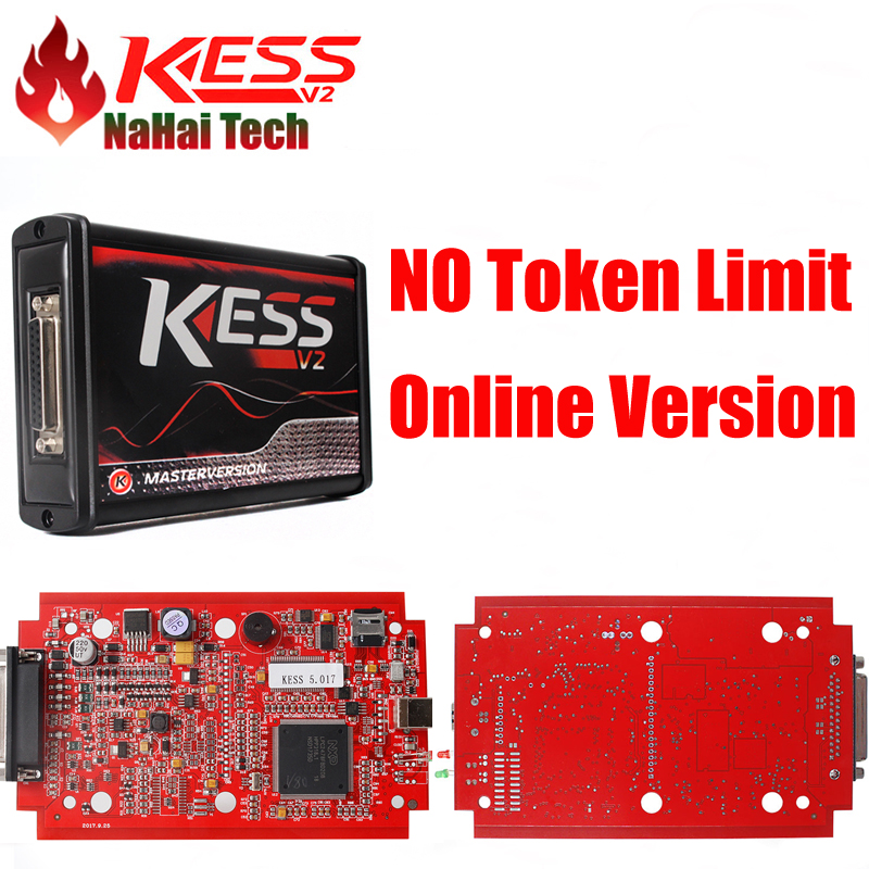 Red KESS V2.47 V5.017 No Tokens ECU Chip Tuning EU Online Master ECU programmer KESS V2 Manager Tuning Kit For Car Truck