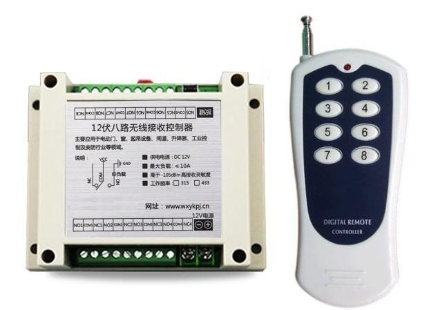 Mini Size Dc 12v 1ch 1ch 10a Rf Wireless Remote Control