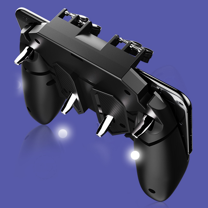 Купить с кэшбэком PUBG Controller Turnover Button Gamepad for PUBG IOS Android Six 6 Finger Operating Gamepad Peripherals PUBG Mobile Joystick