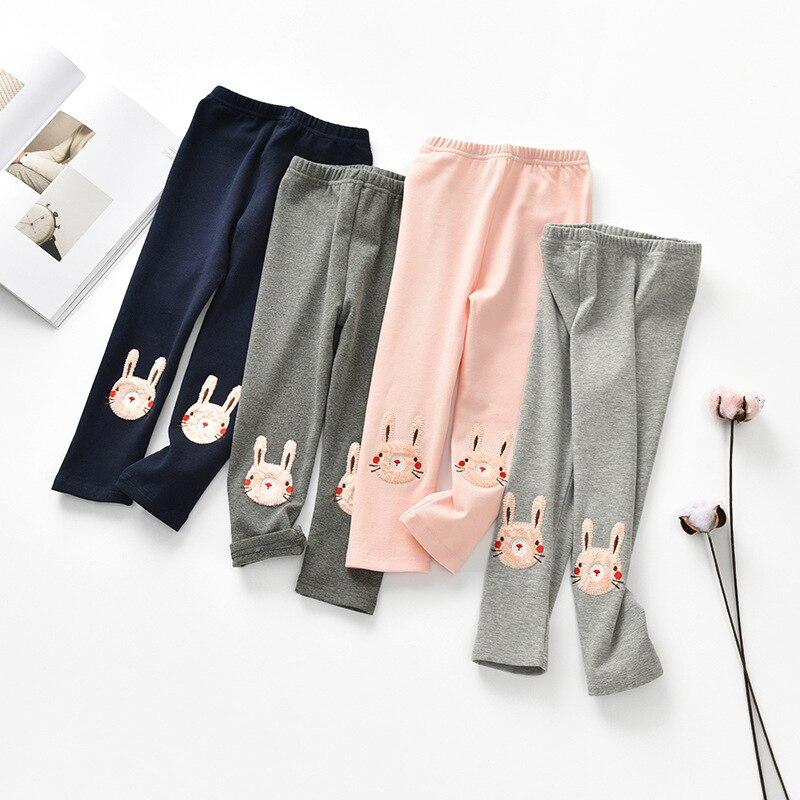 3-8 Jahre Alt Mädchen Leggings Frühling Herbst Kinder Hosen Kleidung Kaninchen Prinzessin Legging Hosen Dünne Hosen Für Baby Mädchen