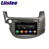 Liislee 2 din навигационная система для Android gps для Honda Fit Jazz 2007 ~ 2014 Авто Радио мультимедийный плеер Bluetooth зеркальная поверхность подключение