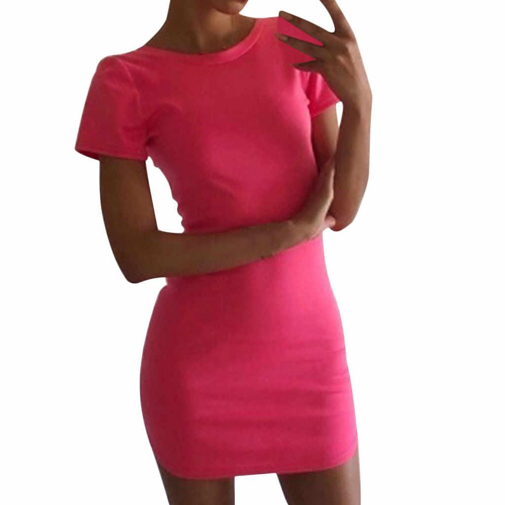 Hawcoar платье летнее платье 2019 платье Для женщин модные однотонные Цвет повседневные платья летнее облегающее платье Вечерние платья Бесплатная deliveryD4