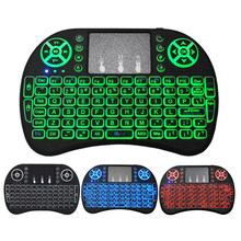 I8 Mini Wireless Keyboard 7 Warna Backlit Udara Mouse dengan Touchpad Handheld untuk Google Android TV Box Xbox PC Gamer smart TV HTPC(China)