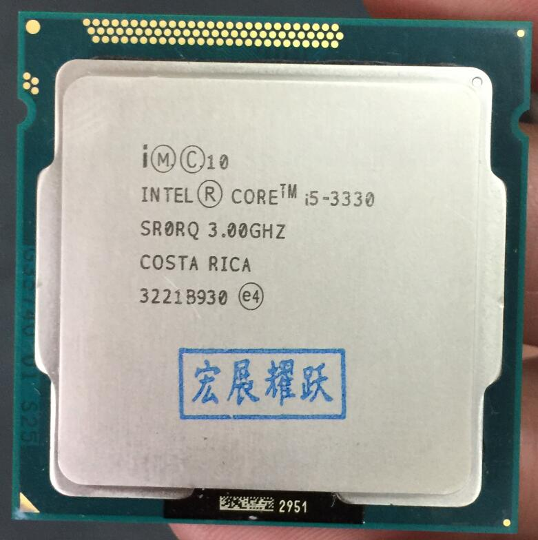 Processeur Intel Core i5 3330 i5-3330 (Cache 6 M, 3.2 GHz) LGA1155 CPU 100% fonctionnant correctement ordinateur de bureau CPU