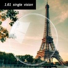 Оптические 1,61 единое видение сферические НС ТСМ УФ линзы с диоптриями для близорукости, очки при дальнозоркости, астигматизма