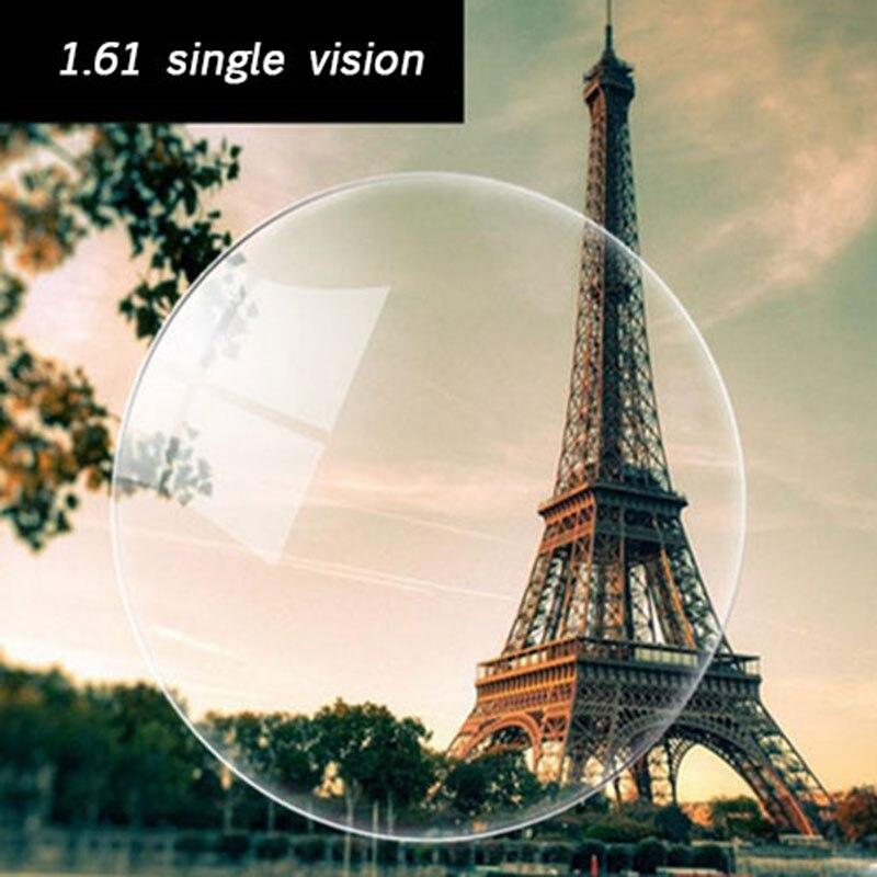 Prescripción óptica 1,61 visión única asférica HC TCM UV resina lentes de prescripción para miopía presbicia astigmatismo