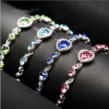 Korea New Hot Heart Crystal Women Bracelet Fashion Jewelry Elegant Lady All-match Personality Accessories