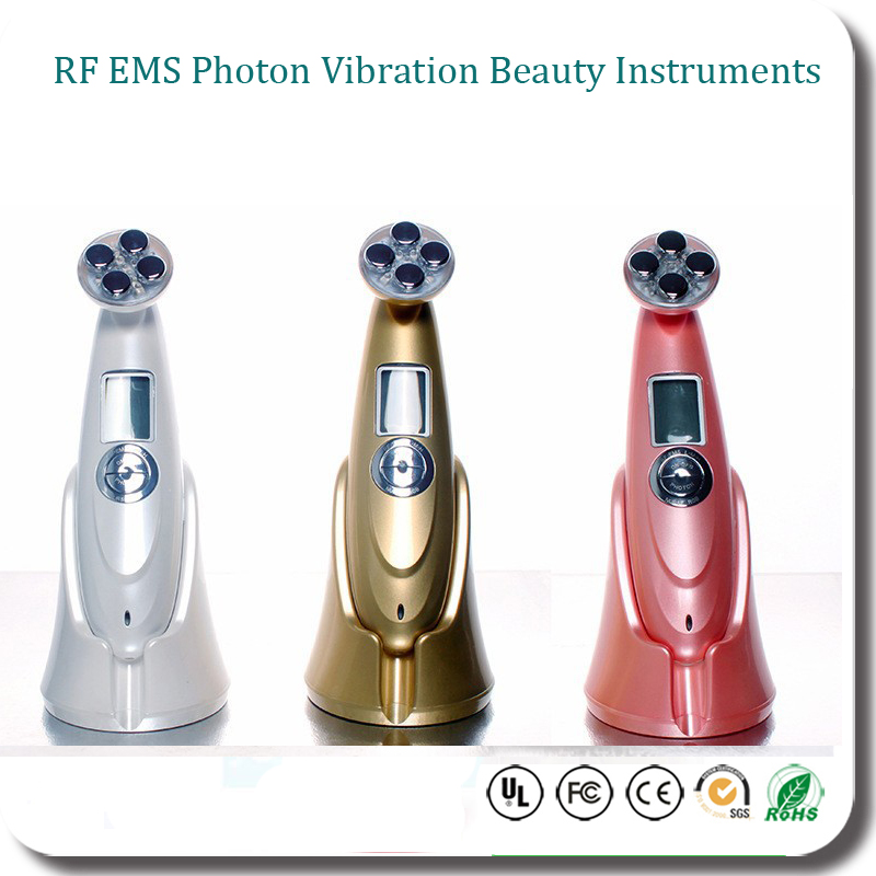 Portable RF Radio Frequency Skin Rejuvenation Beauty Massager EMS Face Lift Led Photon Therapy Beauty Device portable home use led photon blue green yellow red light therapy beauty device for face and body skin rejuvenation firming