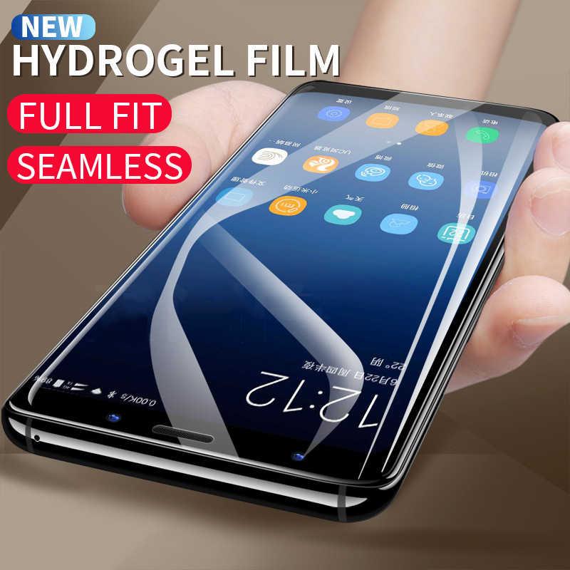 S10 S9 S8 زائد هيدروجيل فيلم لسامسونج غالاكسي ملاحظة 8 9 S10 S6 S7 حافة زائد TPU غطاء كامل هيدروجيل واقي للشاشة لا الزجاج