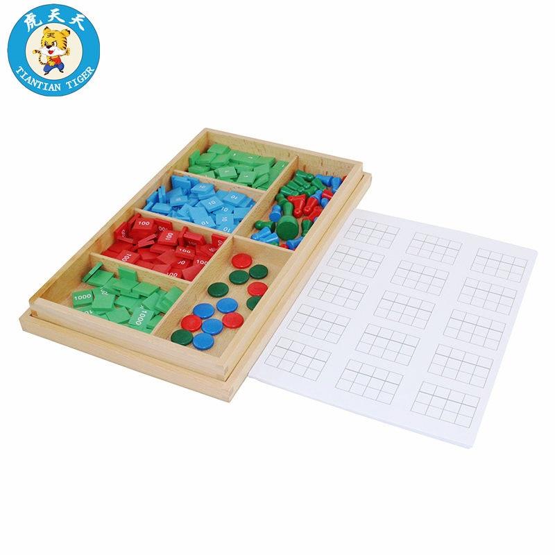 Montessori maths enfants jouets éducatifs en bois jouets préscolaire matériel d'enseignement jeu de timbre