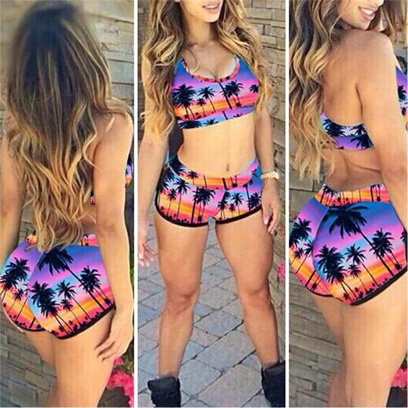 Sexy Women's Crop Top High Waist Shorts Bikini Beach Beachwear Swimwear Bathing Hawaii 8 Style Choice