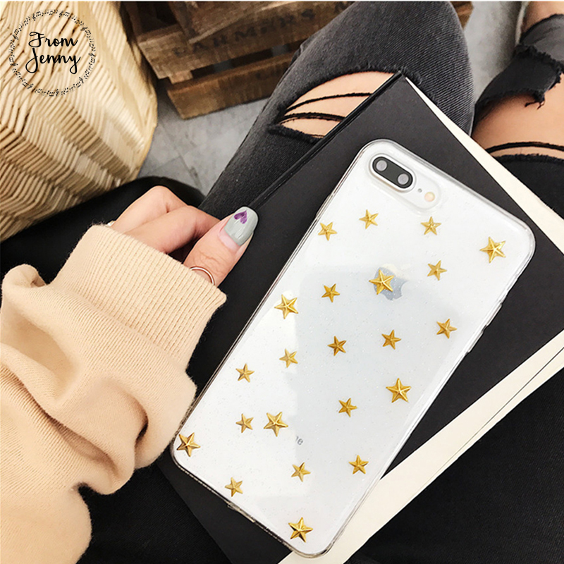 From Jenny Case for Apple iPhone 6 6s Plus for iPhone7 7Plus 8 8plus X Stars Tpu case Free Shipping