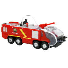 Fire Truck Toy Electric Universal Water Jet Car Music Light
