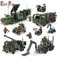 4 Styles de Combat Militaire Véhicules Camion Soldats Guns Weapon Compatible Avec Légèreté armée ww2 Réservoir blocs De Construction Jouets Pour enfant