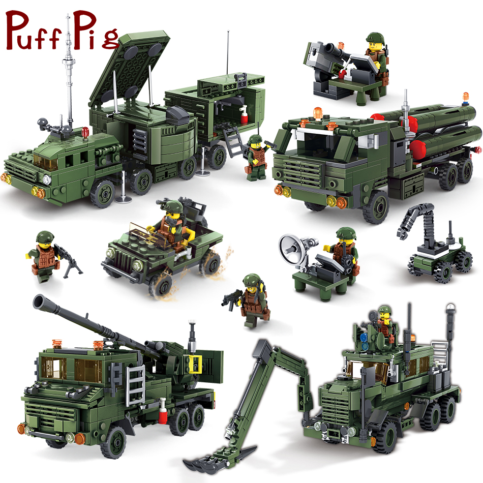 все цены на 4Styles Military Combat Vehicles Truck Soldiers Guns Weapon Compatible Legoed Germany Army ww2 Tank Building Blocks Toys For Kid онлайн
